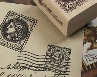 Classic Postage Style Stamp - B (1.2 x 1.6in)