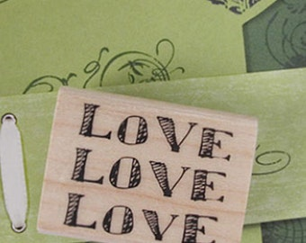 Love Love Love Stamp (1.6 x 1.2in)
