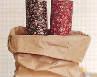2 Set - Antique Flower Reform Fabric Stickers (A4)