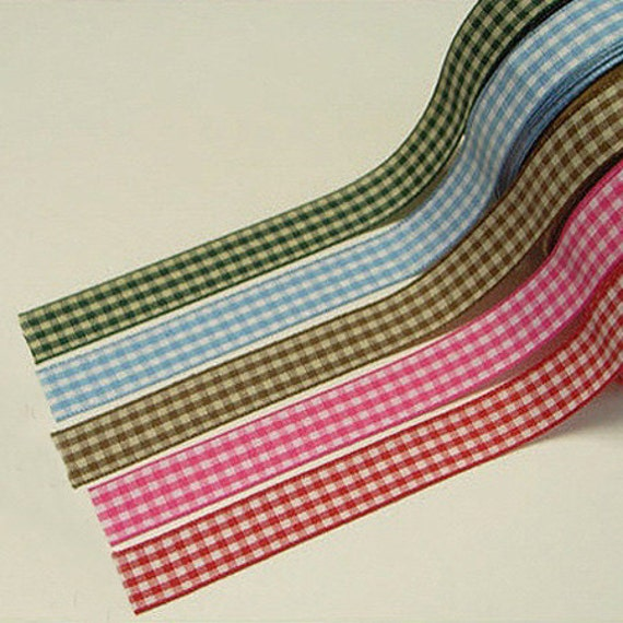Classic Gingham Check Adhesive Fabric Tape (0.6in)