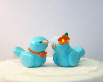 Tropical Bird Wedding Cake Topper Wedding/Home Decor - Custom Colors of Choice