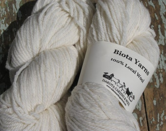 Biotayarns' - Dakota White, Cormo Wool, 3ply, worsted weight, 200 yard skein, natural, approx 3.6 oz.