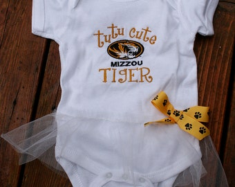 TuTu Cute Mizzou Tiger Bodysuit