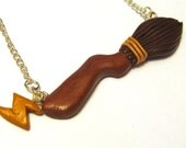 Harry Potter Inspired Nimbus 2000 Broomstick Necklace