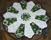 Special Occasion Table topper quilted Spring Irish St Patrick's Day round table runner