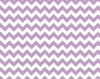 Small Chevron Fabric by Riley Blake Fabrics, Small Chevron in Lavender, 1 Yard