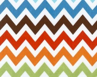 Robert Kaufman Fabric, Large Chevron in Bermuda, Remix Collection, 1 Yard Total
