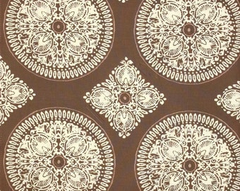 Medallion in Brown, Designer Fabric by Ty Pennington, Impressions Collection, 1 Yard