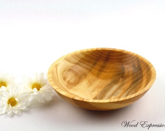 Wooden Ash Bowl Hand Turned 8 inch