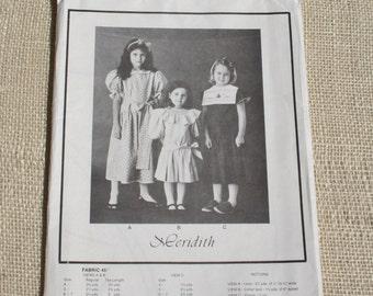 Smocked Dress Pattern Smocking Pattern Girls Dress Size 4 - 6