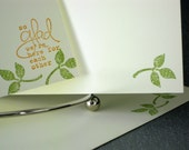 Flat Stationery Set Handmade Little Leaves 15 Note Cards With 10 Envelopes Writing Paper Correspondence Stationary