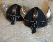 Leather Viking (Spangenhelm) Helmet w/Horns