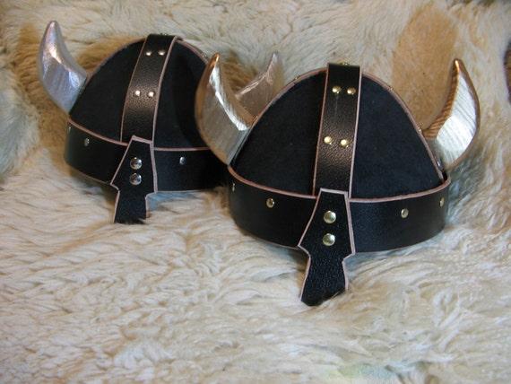 Leather Viking (Spangenhelm) Helmet w/Horns