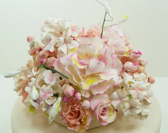 Roses and Hydrangeas  - sugar flowers handcrafted - your choice of colors - NO SHIPPING -  local NYC Metro delivery only