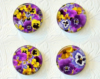 Magnet Set  Pansies Buy 3 Get 1 Free 253M