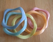 SPRING SALE! Pastel Wavy Bangles Set of 5