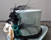 Sale Use PromoCode for Discount Teal Death Mini Top Hat
