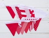 "Good Will Bunting ""Rich Red"" Fabric Bunting"