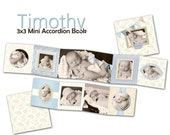 INSTANT DOWNLOAD - 3x3 Accordion mini template - Timothy - 0336