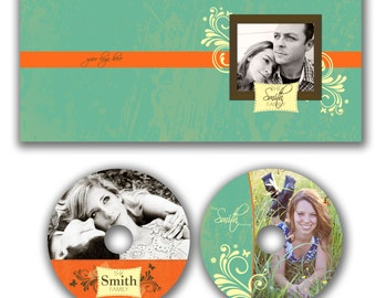 INSTANT DOWNLOAD -  Dvd Label and Dvd Case Photoshop template - W0649