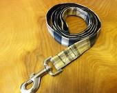 Black and Tan Plaid  Dog Leash