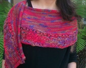 The Harem Extrafine Hand Dyed Italian Merino Wool Multi Colored Shawlette or Scarf