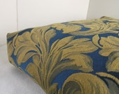 Dog Bed Cover   Royal Blue and Gold Damask Upholstery 24 x 36