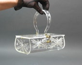Beautiful Antique FLORIDA or Gilli handbag Lucite hard plastic purse -- 1950s - meant to be used