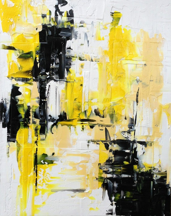 Abstract Painting Urban Art Original Modern by ...Yellow Abstract Painting