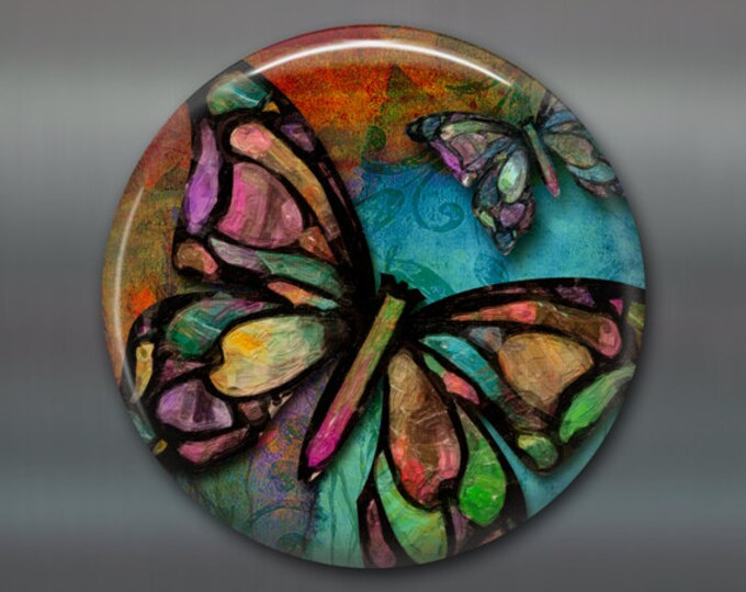 butterfly decor, colourful butterfly magnet, butterfly kitchen decor, large fridge magnet,  MA-315