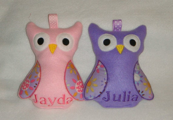 Cute & Cuddly Plush Owl - for boys or girls - Can be Personalized with Name