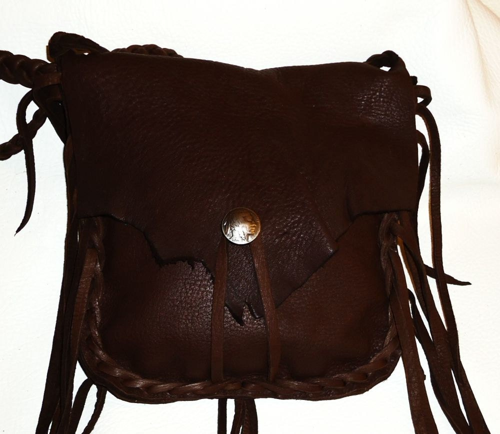 leather possibles bag mountain purse black powder