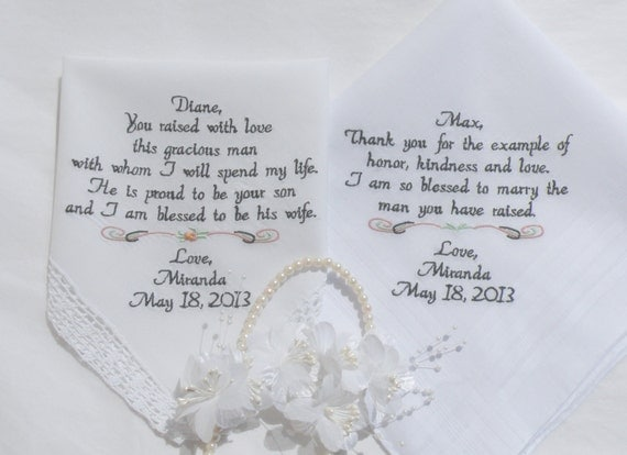 Wedding Present For Father In Law : In Law & Father In Law Wedding Gift Personalized Embroidered Wedding ...