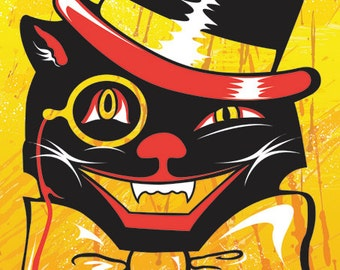 Swanky Cat 11x14 print
