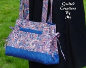 Americana Red, White and Blue Fourth of July Celebration Quilted Bow Tuck Style   Bag Purse Handbag Tote by QuiltedCreatonsByMe