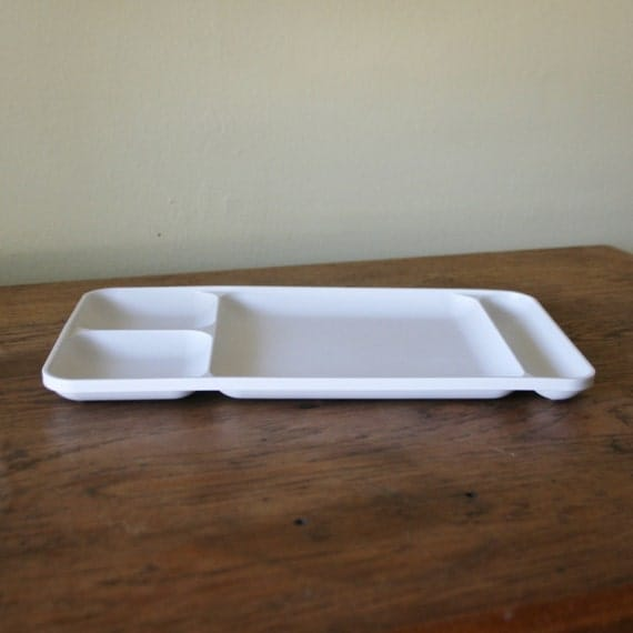 Sectioned Tupperware: Vintage White Tupperware Divided Tray By Sariloaf On Etsy