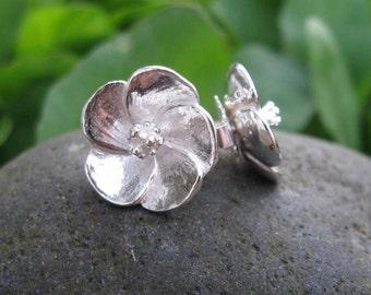 Ko'oloa'ula Sterling Silver Stud Earrings