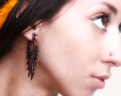Inikawa Feathers - Wood Post Earrings 1