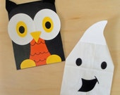 Halloween Character Treat Sacks Owl Ghost Vampire Mummy Pumpkin Witch Birthday Party Favor Bags by jettabees on Etsy