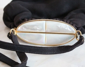 mother of pearl bag - evening bag - cocktail bag - purse frame