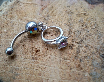 belly button ring wedding ring body jewelry