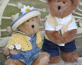 Retired 2 Vintage 1988 Boyds Bears The Head Bean Collection Bailey w boyfriend Edmund  teddy Bear all tags