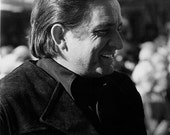 "Johnny Cash smiling, Old Tucson, AZ,1/71, signed 5x7"" print"