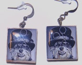 Puppies with an Attitude-Scrabble Tile Earrings