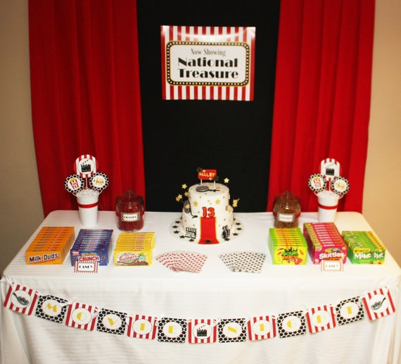 Movie Night Birthday Party Decorations Movie Night By