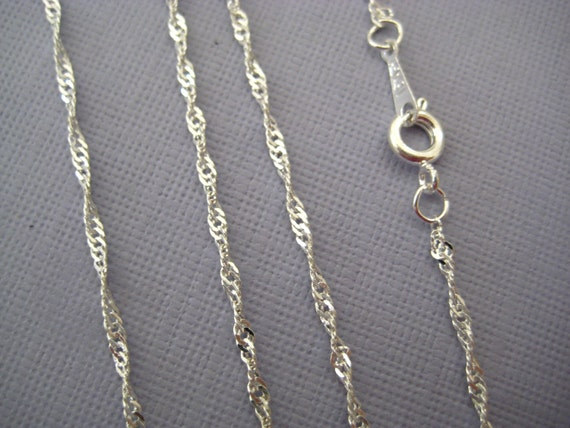 Twisted Chain Link Silver Plated 3 pcs 16in