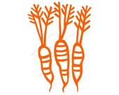 Orange carrots digital stamp clip art - instant download - also in black