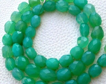 Brand New Full 16 Inch Long Strand, CHRYSOPRASE Chalcedony Faceted Nuggets Briolettes,9-10mm Long size,Gorgeous