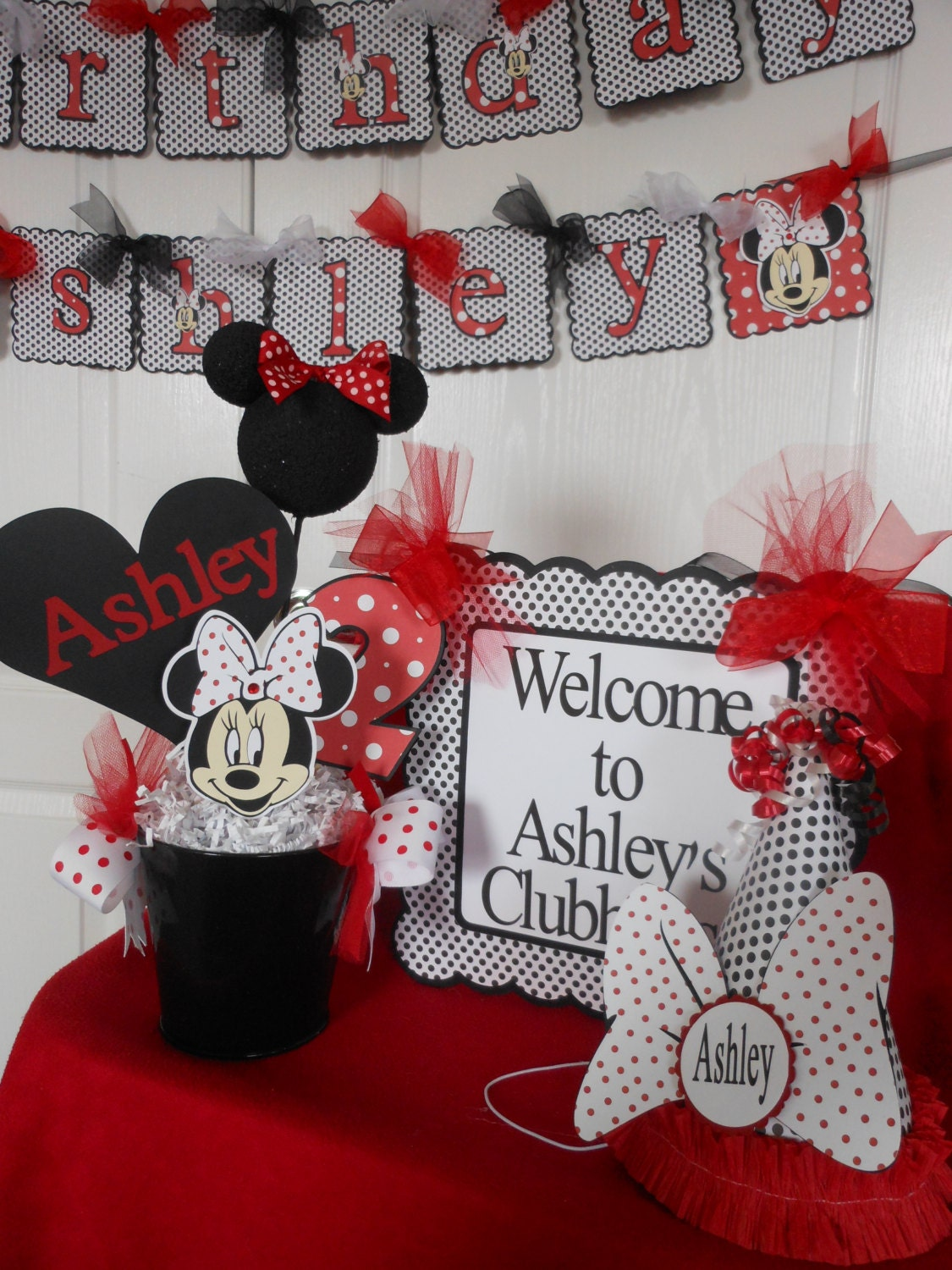 Minnie Mouse Red Polka Dot Ultimate Birthday Party Package