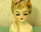 Vintage Inarco Lady Head Vase 1963